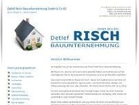 Risch Bauunternehmung GmbH Co.KG website screenshot