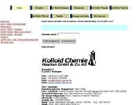 Kolloid Chemie website screenshot