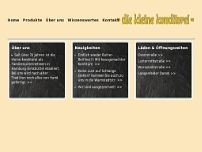 Die kleine Konditorei website screenshot