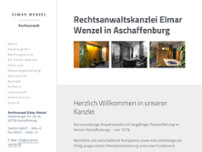 Elmar Wenzel Rechtsanwalt website screenshot