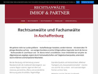 Imhof & Partner website screenshot