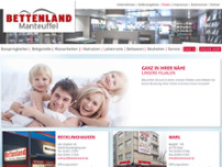 Bettenland Manteuffel (Recklinghausen) website screenshot