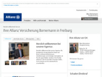 Allianz Hauptvertretung Marc Bornemann website screenshot