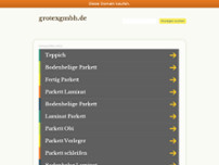 Grotex Teppichbodenhalle GmbH website screenshot