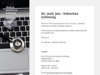 Dr.med. Jan-Sebastian Schlenzig website screenshot