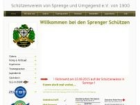 Schützenverein Sprenge e.V. website screenshot