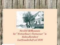 Kretzschmars Restaurant website screenshot