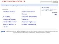 Agentur Altenberger Gesellschaft für Telemarketing und Customer Services bmH website screenshot