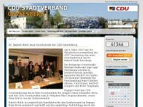 CDU Stadtverband website screenshot