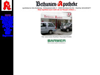 Bethanien-Apotheke website screenshot