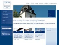 Ecclesia Versicherungsdienst GmbH website screenshot