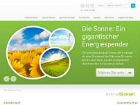 IntraSolar GmbH & Co. KG website screenshot