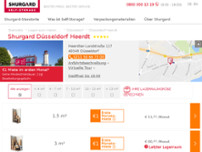 Shurgard Self-Storage Düsseldorf Heerdt website screenshot