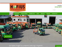 HOFIUS Container GmbH & Co. KG website screenshot