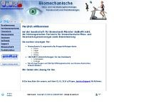 GeBioM Gesellschaft f.Biomecha nik Münster mbH website screenshot