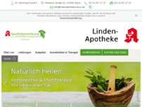 Linden-Apotheke website screenshot