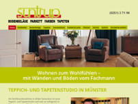 Suntrup Teppich+Tapetenstudio website screenshot