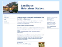 Landhaus Holsteiner Stuben website screenshot