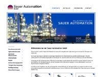 Sauer Automation GmbH website screenshot
