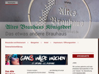 Altes Brauhaus Hotel-Restaurant website screenshot