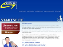 Elektrotechnik Fiedler website screenshot