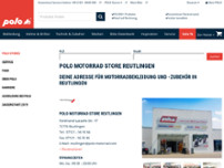 POLO Motorrad Store Reutlingen website screenshot