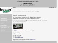 Besen-rein wir räumen Böden website screenshot