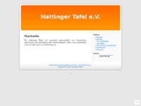 Hattinger Tafel e.V. website screenshot