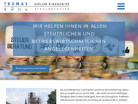 Steuerberater Thomas Rühl website screenshot