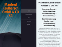 Manfred Kaulbarsch GmbH & Co KG website screenshot