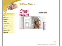 Coiffeur Sister's website screenshot