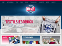 KOMA - Merchandising GmbH website screenshot