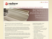 Rachow-Kunststoff-Folien GmbH website screenshot