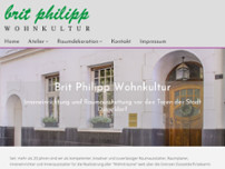 Brit Philipp Wohnkultur website screenshot