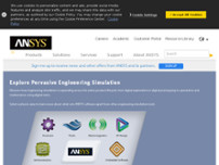 ANSYS Germany GmbH website screenshot
