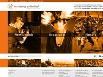 U3 marketing unlimited website screenshot