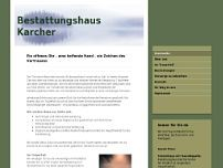 Mannheimer Bestattungshaus Karcher GmbH website screenshot