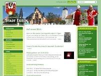 Stadt Egeln website screenshot