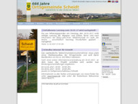 Ortsgemeinde Scheidt website screenshot