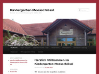 "Kindergarten ""Moos-Schlössl"" website screenshot"