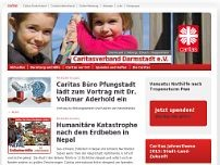 Caritasverband Darmstadt e.V. website screenshot
