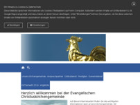 Prof. Dr. Pfarramt Christuskirche Pfarrer Dinkel Christoph website screenshot