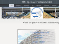 UNI-Spezialgerüstbau GmbH website screenshot