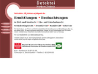 Detektei Ziebeck website screenshot