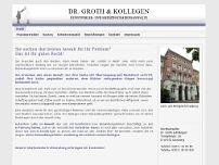 Dr. Klaus Ulrich Groth website screenshot
