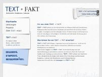 Text+Fakt Recherche-Dokumentation-Lektorat website screenshot