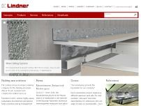 Lindner AG website screenshot