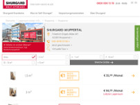Shurgard Self-Storage Wuppertal website screenshot