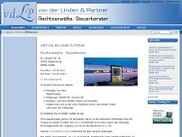 von der Linden & Partner website screenshot