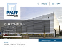 Pfaff Gebäudedesign website screenshot